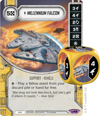 Millennium Falcon (Sold with matching Die)
