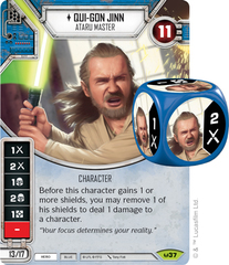 Qui-Gon Jinn - Ataru Master (Sold with matching Die)