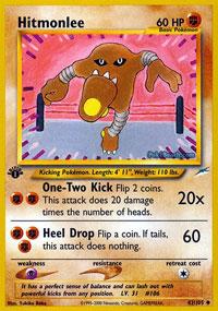 Pokemon Neo Destiny Uncommon Card #42//105 Hitmonlee