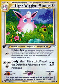 Light Wigglytuff - 54/105 - Uncommon - 1st Edition