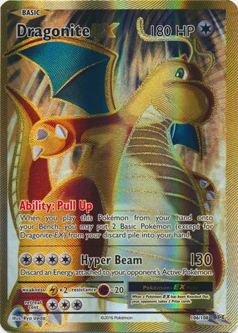 Dragonite-EX - 106/108 - Full Art Ultra Rare