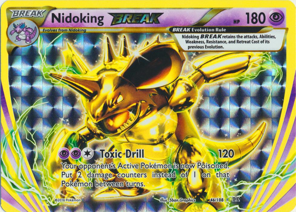 Nidoking BREAK - 46/108 - Rare BREAK