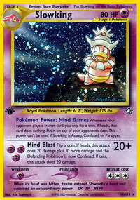Slowking - 14/111 - Holo Rare - 1st Edition
