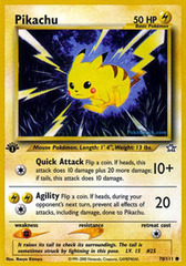 Pikachu - 70/111 - Common - 1st Edition
