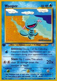 Wooper - 82/111 - Common - 1st Edition