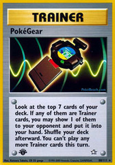 PokeGear - 88/111 - Rare - 1st Edition