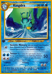 Kingdra - 19/64 - Rare - 1st Edition