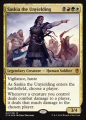 Oversized Foil - Saskia the Unyielding on Channel Fireball