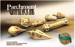 PolyHero Wizard Set - Parchment with Black Ink