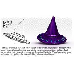 PolyHero - 1d20 Hat - Wizardstone with Mystic Runes