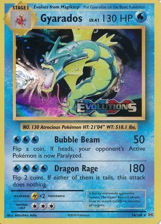 Gyarados - 34/108 - XY Evolutions Prerelease Promo