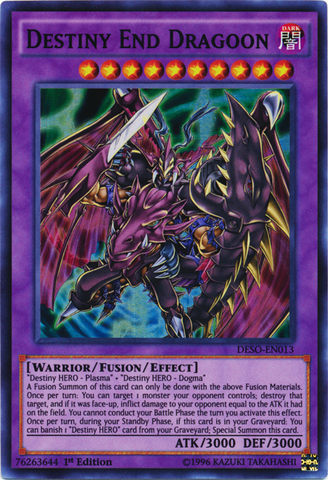 Destiny End Dragoon - DESO-EN013 - Super Rare - 1st Edition