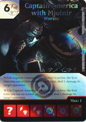Captain America with Mjolnir - Worthy (Foil) (Die & Card Combo)