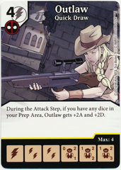 Outlaw - Quick Draw (Die & Card Combo)