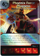 Phoenix Force Magneto - Nowhere is Safe Anymore (Foil) (Die & Card Combo)