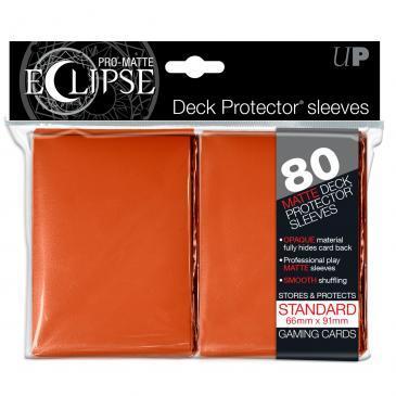 Ultra Pro - Eclipse Orange Pro-Matte Standard Sleeves 80Ct