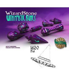 Polyhero Dice: D20 Wizard Hat Promo - Wizardstone With Mystic Runes