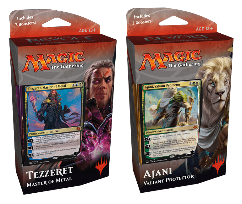 Aether Revolt Planeswalker Deck Set of 2: Tezzeret, Master of Metal & Ajani, Valiant Protector