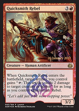 Quicksmith Rebel - Foil - Launch Promo