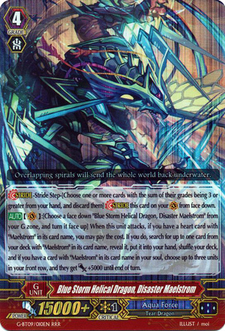 Blue Storm Helical Dragon, Disaster Maelstrom - G-BT09/010EN - RRR
