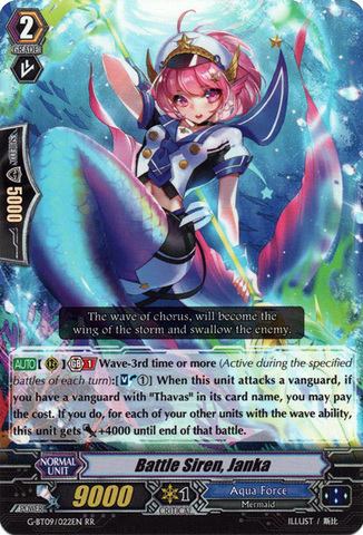 Battle Siren, Janka - G-BT09/022EN - RR