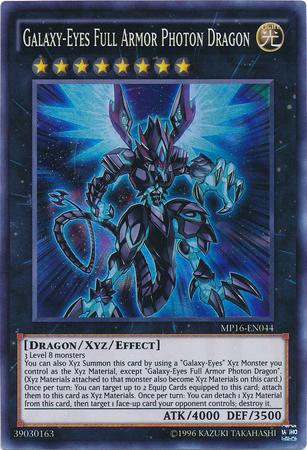 Galaxy-Eyes Full Armor Photon Dragon - MP16-EN044 - Super Rare - Unlimited Edition