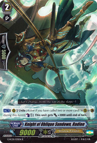Knight of Oblique Sundown, Radion - G-RC01/031EN - R