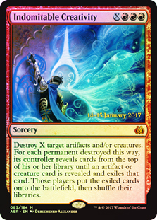 Indomitable Creativity (Aether Revolt Prerelease Foil)