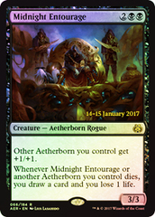 Midnight Entourage - Foil - Prerelease Promo