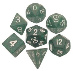 Metallic Dice Games 16mm Ethereal Green with White Numbers