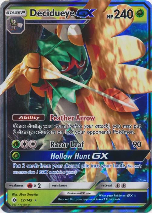 Decidueye Gx 12 149 Ultra Rare Pokemon Card Singles