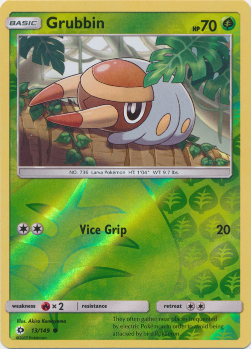 Grubbin 13149 Common Reverse Holo Pokemon Singles Sun And