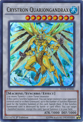 Crystron Quariongandrax - RATE-EN046 - Ultra Rare - 1st Edition on Channel Fireball