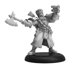 Khador Winter Guard Artillery Kaptain Solo Blister