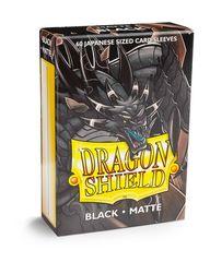 Dragon Shield Matte Small Sleeves - Black (60 ct)
