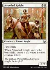 Attended Knight - Foil on Channel Fireball