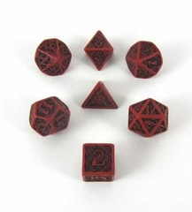 CELTIC DICE SET: RED/BLACK