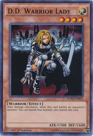 D.D. Warrior Lady - DUSA-EN051 - Ultra Rare - 1st Edition
