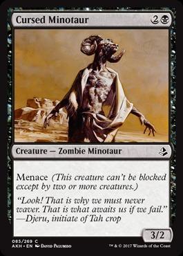 Cursed Minotaur - Foil