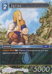 Agrias - 2-122R - Foil on Channel Fireball