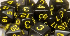 Translucent Black (Smoke) with Gold Numbers - Set of 7