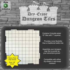 Role 4 Initiative - Dry Erase 10 inch Dungeon Tiles  - Pack of 9