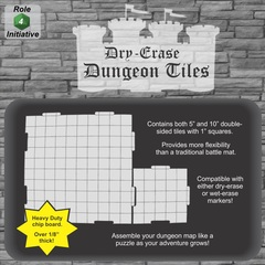 Role 4 Initiative - Dry Erase 5 in. & 10 in. Dungeon Tiles  - Combo pack of 21