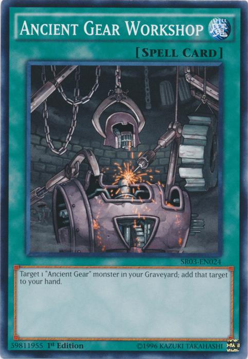 Ancient Gear Workshop - SR03-EN024 - Common - 1st Edition