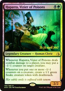 Hapatra, Vizier of Poisons - Foil - Prerelease Promo