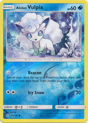 Alolan Vulpix - 21/145 - Common - Reverse Holo on Channel Fireball