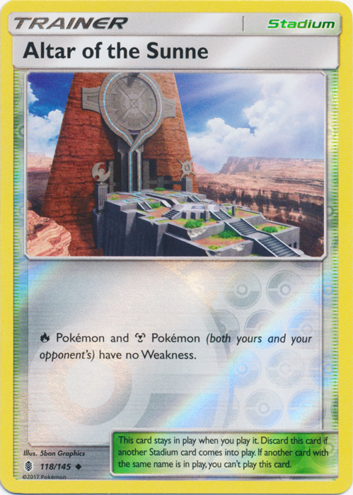 Altar of the Sunne  - 118/145  - Uncommon - Reverse Holo
