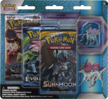Legendary Beasts Suicune 3 Pack Blister