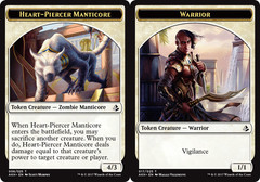 Heart-Piercer Manticore Token // Warrior Token