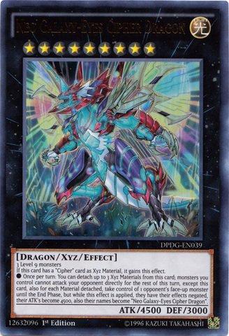Neo Galaxy-Eyes Cipher Dragon - DPDG-EN039 - Ultra Rare - 1st Edition